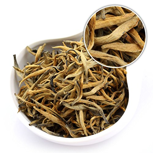 GOARTEA 250g (8.8 Oz) Nonpareil Supreme Organic Yunnan Golden Bud Dian Hong Dianhong Black Tea