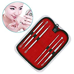 CCS Blackhead Remover Pimple Extractor with Instructions for Acne Comedone Whitehead Blemish Zit Removal Tool Kit