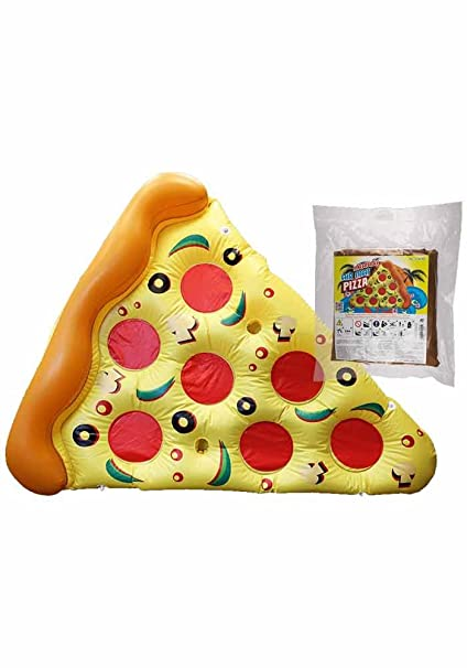 Flotador inflable con forma de Pizza - Pizza Slide