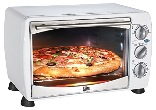 6 Slice Toaster Oven/Broiler w/ Thermostat ,White .Elite Cuisine Toaster And Convection Ovens