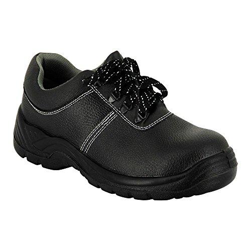 Label Blouse Chaussure Sécurité Basse Dessus Cuir Semelle PU Embout Composite Normalisé ISO20345-S2 Pointure 37