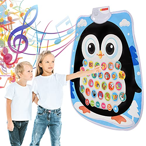 LIRS TOYS Alphabet Learning Toy – Educational Interactive Electronic Musical Waterproof Animal Playmat for Intuitive Fun Early Learning / Preschool Learning Toddler Toys - 19 x 16 Inches - Age 3+