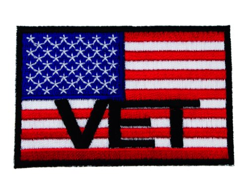 (US United States American Flag VET Veteran Sew or Iron on Patch IVAN3143 )