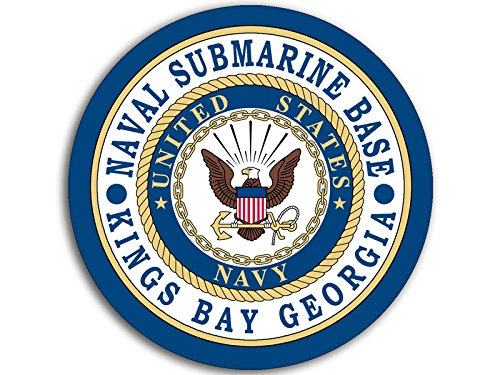 - American Vinyl Round Naval Submarine Base Kings Bay Georgia Seal Sticker (Logo Navy)