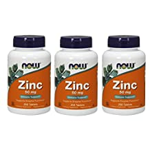 Now Foods Zinc Gluconate 50mg Tablets, 750-Count
