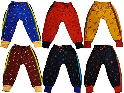 KIFAYATI BAZAR Boy's & Girl's Regular Fit Trackpants (Pack of 6)