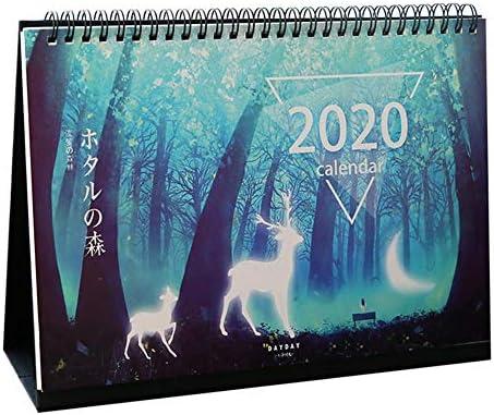 presentimer 2020 Desktop Calendar 10 7.4in Double Sided Standing Calendar mit Aufklebern von Oktober 2019 bis Dezember 2020 zum Planen und Organisieren
