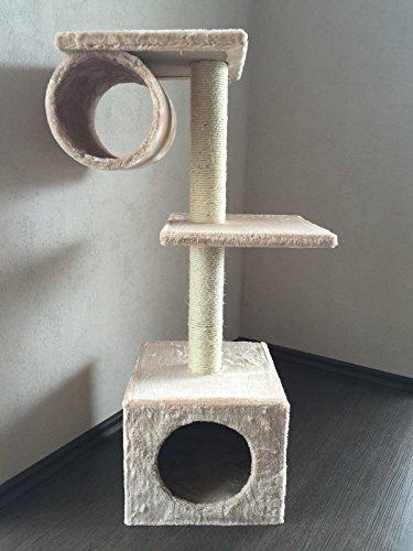 """Lemio - Árbol para gato """"High Pipe"""" rascador para gatos (beige)"""