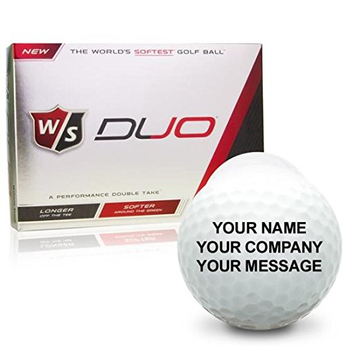 Wilson Staff Duo Personalized Golf Balls