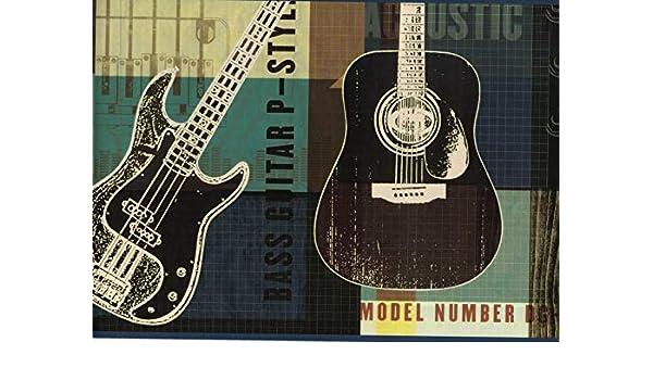 Bordes de papel pintado para guitarra, borde de papel pintado ...