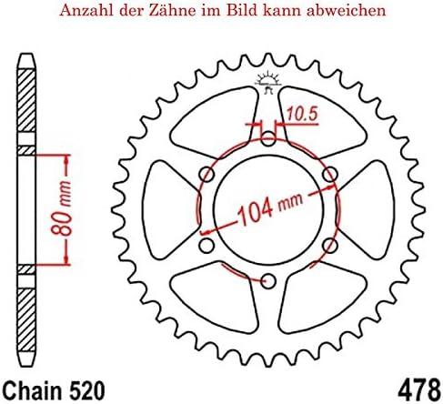 Kettenrad mit 45 Z/ähnen f/ür Z 800 A 2013-2015 von jt-Sprockets
