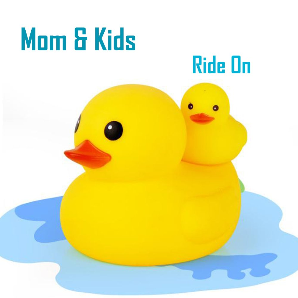 Novelty Place Rubber Duck Ducky Baby Bath Toy for Kids Assorted Colors Float /& Squeak 12 Pcs