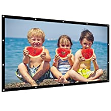 Projector Screen 100 Inch 16:9 Diagonal NIERBO Projection Screen Portable Screen Projector Accessories for Indoor Outdoor