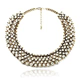 Fun Daisy Grand UK Princess Kate Middleton Hot Gold Tone Rhinestone Fashion Necklace