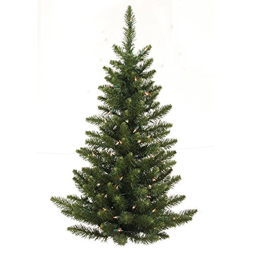 Tree Camdon Fir Christmas (3 ft. PVC Christmas Tree - Green - Camdon Fir - 97 Tips - Unlit - Vickerman A861135-Wall Tree)