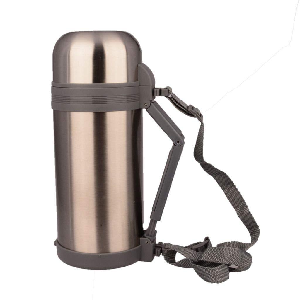 HTISRJBO thermobecher Weithals-Thermosflasche mit Handgriff Vakuumflasche Doppelter Edelstahl Isolierte Thermosflasche