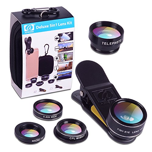 Apexel 5 in 1 HD Camera Lens Kit 198