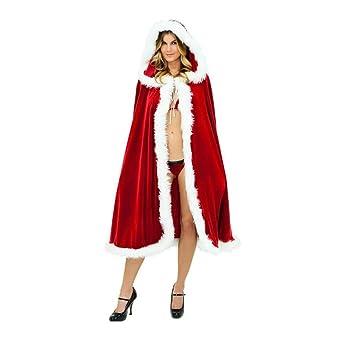 LW Moda Mujer Navidad Sra. Papá Noel Capa Traje de Navidad ...