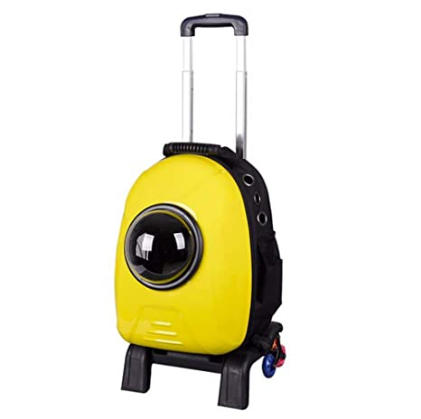 KOSHSH Transportín de Mascotas portátiles con Ruedas, para 5kg Perro Gato Viaje Bolsa con Ventana