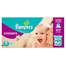Pampers Cruisers Diapers Size 5, Mega Box, 120 Count
