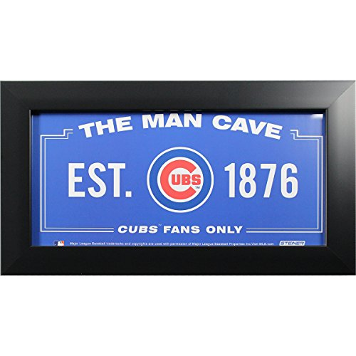 Chicago Cubs 6 inch x 12 inch Man Cave Sign