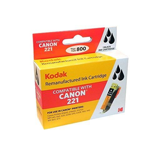 Kodak CLI-221BK Remanufactured 2946B001 Black Inkjet Cartridge Ink by Kodak