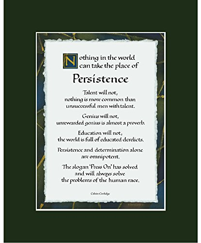 Persistence quote print calvin coolidge 8x10 inch dark for Ink monkey press