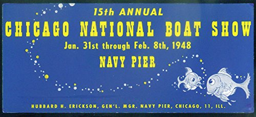 Chicago National Boat Show Navy Pier blotter 1948