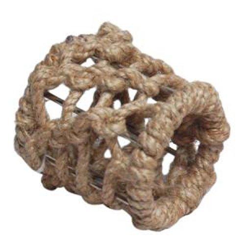 India Handicrafts IHI Nautical Rope Napkin Rings Set of 4