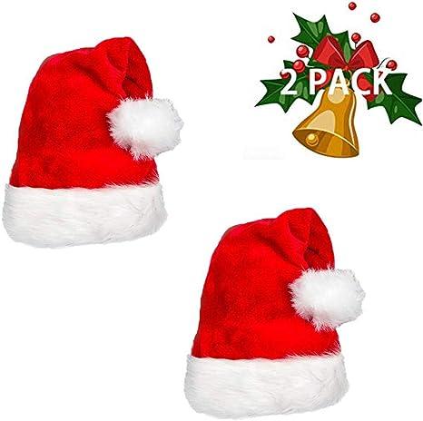 Adult Unisex Santa Hat Xmas Hat Red Cap Santa Christmas Party Hat Costume Bulk