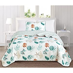 51b54nLo-aL._SS300_ 50+ Starfish Bedding Sets and Starfish Quilt Sets