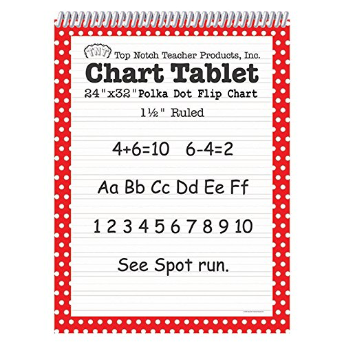 Top Notch Teacher TOP3847BN Dot Chart Tablet, Red, 1.5'' Rule, MultiPk 2 Each
