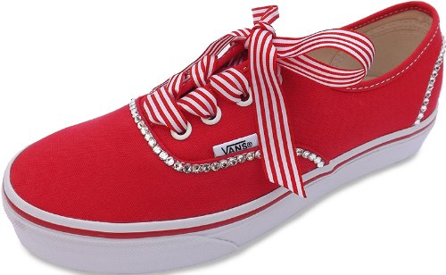 Vans Women s Stunning Authentic Crystallised With Swarovski Crystals Red  Size 8  Amazon.co.uk  Shoes   Bags e2fb01b9c372