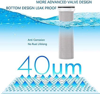 LZH FILTER Filtro de Agua prefiltro para Toda la casa, purificador de Agua, Reutilizable, Filtro de Agua para sedimentos,Oro,40Micron1/2 Joint: Amazon.es: Hogar