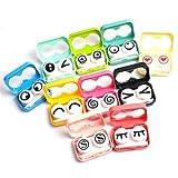 Case Square® Adorable Eye Expression Contact Lens Kit Case Box - Random Color