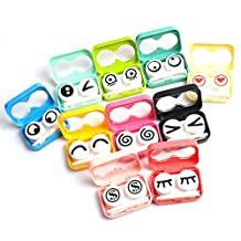 Case Square® Adorable Eye Expression Contact Lens Kit Case Box - Random Color