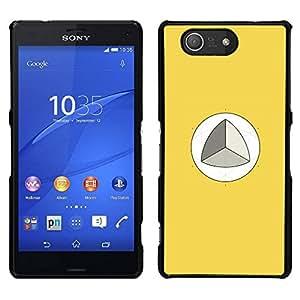 // PHONE CASE GIFT // Duro Estuche protector PC Cáscara Plástico Carcasa Funda Hard Protective Case for Sony Xperia Z3 Compact / Mathematics Trigonometry Yellow /