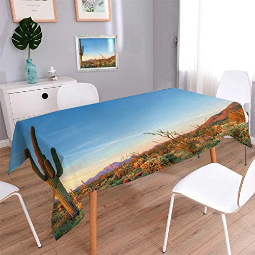 Anmaseven Saguaro Rectangle Dinning Tabletop Decor Sun Goes
