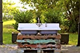 Unusual Refinished 48'' Industrial 1940's Vintage Stamped Metal Double Basin Kitchen Farm Sink Package