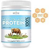 Multi Collagen Hydrolyzed Protein Powder (16oz) - Types I, II, III, V & X - Grass Fed Bovine, Wild Caught Fish, Grass Fed Bovine Bone Broth, Chicken Bone Broth & Eggshell, Non-GMO, Gluten-Free.
