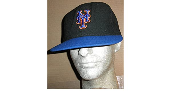 cf3a666cc7f682 NEW YORK METS GAME USED #27 BLACK & BLUE CAMBRIDGE PLACE CAP NY HAT STEINER  COA at Amazon's Sports Collectibles Store