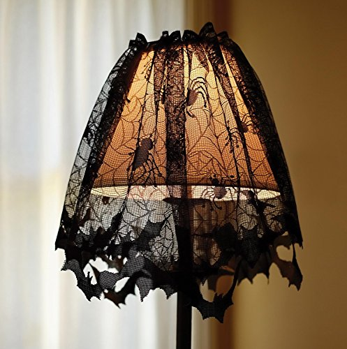 Graveyard Tombstone Lace Decor Lampshade (Graveyard Halloween Ideas)