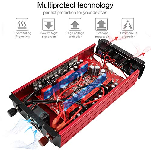 soyond 3000W Power Inverter for Home Car RV with AC Outlets Converter DC 12V in to AC 110V Out by soyond (Image #4)
