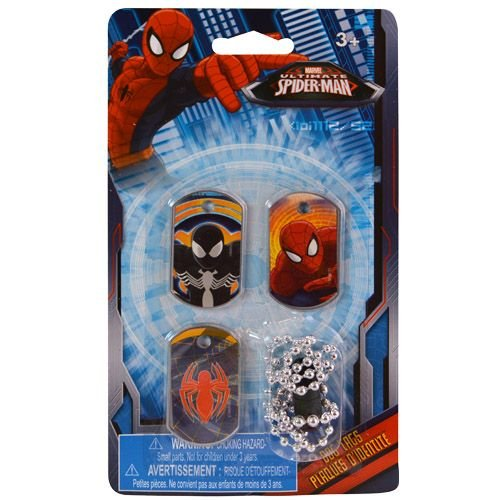 [Marvel Ultimate Spiderman Dog Tags - Set of 3] (Ultimate Spider Man All Costumes Save)