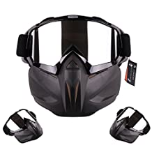 CyberDyer Anti-Fog Windproof Motorcycle Safety Goggles Full Face Mask Ideal For Riding Snowmobile Skiing Or Halloween Party