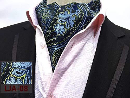 COMVIP Ascot Men's Formal Polyester 08 Shirt Paisley Scarf Necktie Retro rrn8ZpC