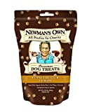Newman's Own Premium Dog Treats, Peanut Butter, Medium Size, 10-Ounce Bags (Pack of 6)
