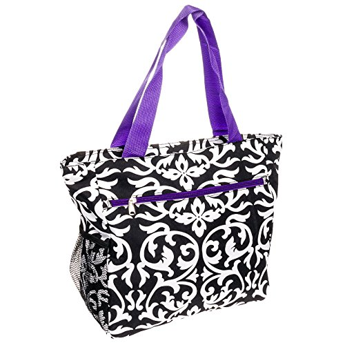 Silverhooks Womens Damask Beach Tote Shopper Bag