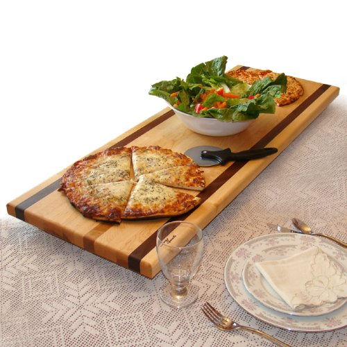 Tableboards by Spinella TBL1 Large Cutting Board, Serving Tray, Hot Plate-All in One! Walnut Accent