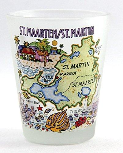 Martin Glass - St.Martin Map Shot Glass